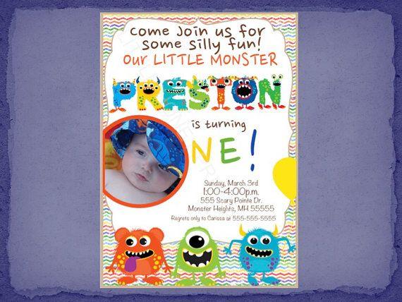 Little Monster Invitation / Monster Invite / by LittleHoneyPrints, $14.20