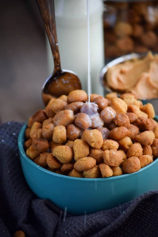 Homemade Peanut Butter Crunch Breakfast Cereal Puffs. This was my favorite cereal growing up.  Cool to see a recipe for it!