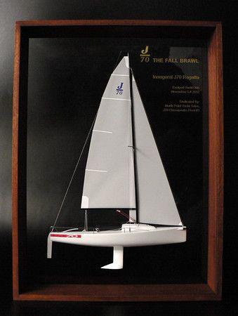 YACHT MODEL: J-70 class racing sailboat half-hull model ...