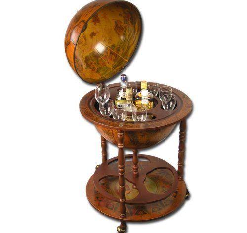 Große Globus BAR Hausbar Globusbar Wein Regal Minibar 110cm x 55,5cm Modell ELECSA 5350: Amazon.de: Küche & Haushalt