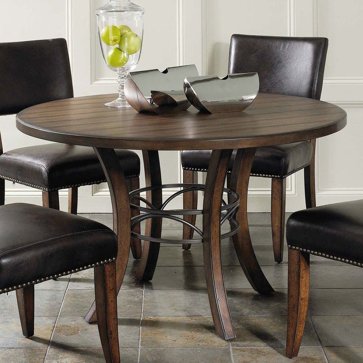 Brown Traditional 5 Piece Round Dining Set Cally: 1000+ Ideas About Round Wood Dining Table On Pinterest