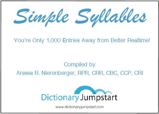 Dictionary Jumpstart is a one-of-a-kind Realtime Dictionary Software in the steno reporting industry.