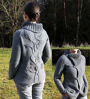 Winterflowers by Steffi Schultz knit in DK. FREE pattern with the body knit…