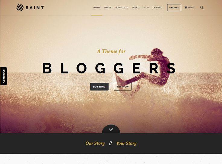 awesome Saint Wordpress Theme