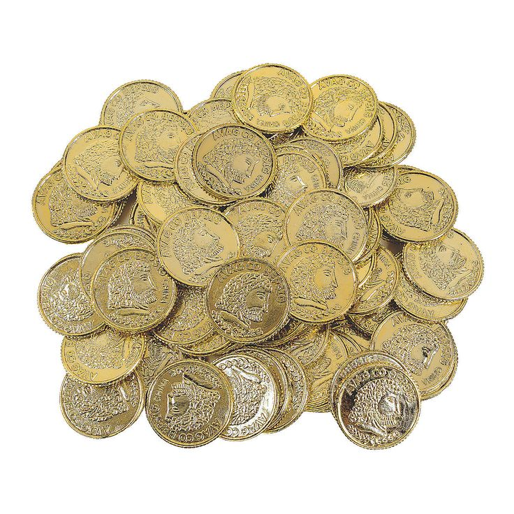 Shiny Gold Coins - OrientalTrading.com Sack of Gold coins