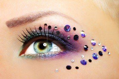 Mooi vrouwelijk oog make-up close-up Stockfoto - 15089159