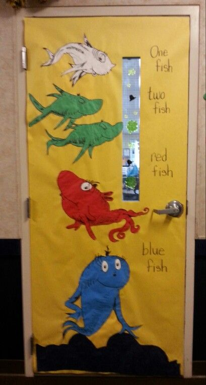 One fish, two fish, red fish, blue fish | Dr. Seuss Door ...