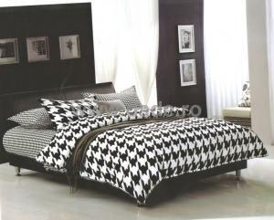 Lenjerie de pat Alb Negru, 2 persoane