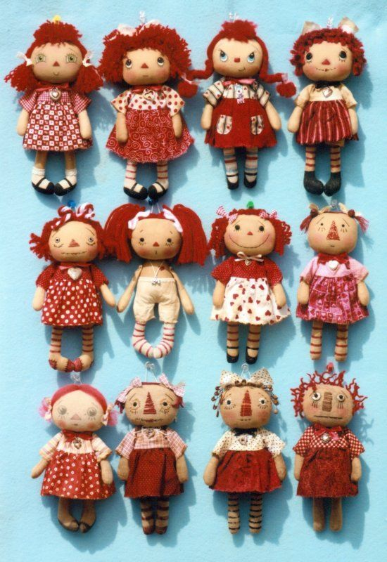 Happy Heart My Little Annie The Pattern Hutch cloth stuffed doll craft pattern Raggedy Ann