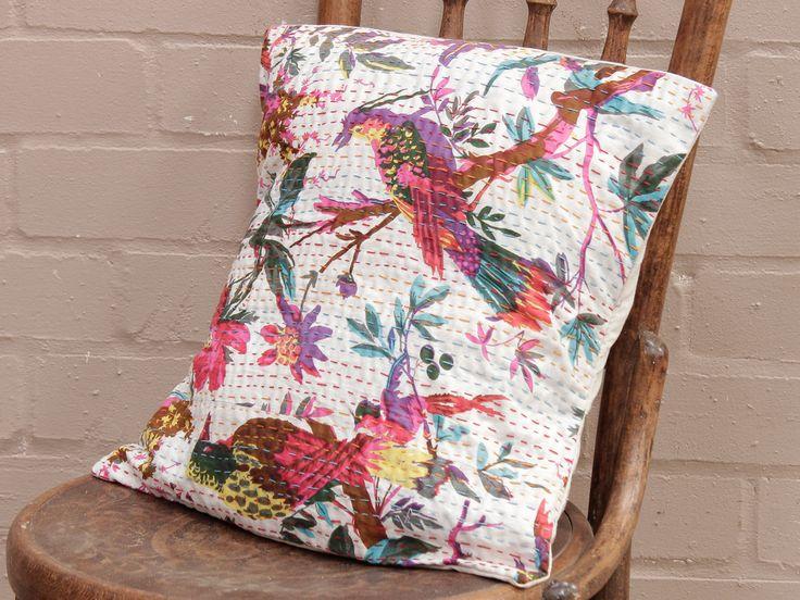 White Tropical Handstitched Cushion Cover https://www.scaramangashop.co.uk/item/8267/130/Soft-Furnishings/White-Tropical-Handstitched-Cushion-Cover.html