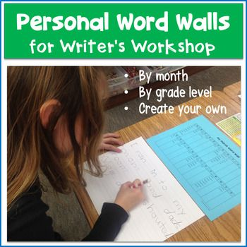 Editable Personal Word Walls for Writer's Workshop Make writing easier for your students by giving them a personal word wall to use at their desks during writing time. No longer will kids struggle to find a word on the word wall across the room to write down.