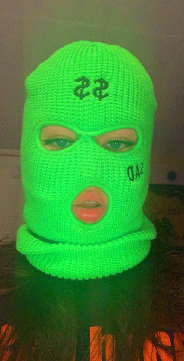 Mask On Dark Green Aesthetic Green Aesthetic Neon Aesthetic
