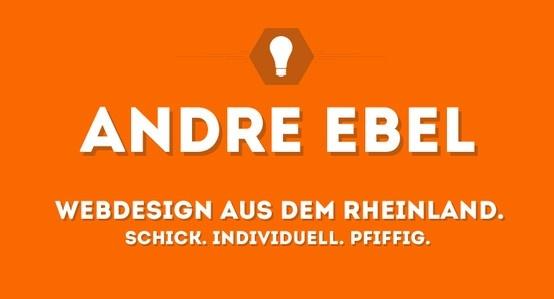 (Alemán) Hola! Mi nombre es Andre Ebel. No soy un diseñador web, diseñador gráfico y sin embargo he estudiado como cualquier cosa. No obstante, el diseño y el estilo mucho. Páginas web, folletos, logotipos y carteles son uno de mis favoritos absolutos.