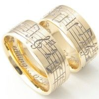 now these are the exact rings i want i would have my wedding song engraved - Engraved Wedding Rings