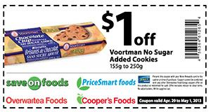 Save on Foods – Coupon for Voortman Cookies, Save $1