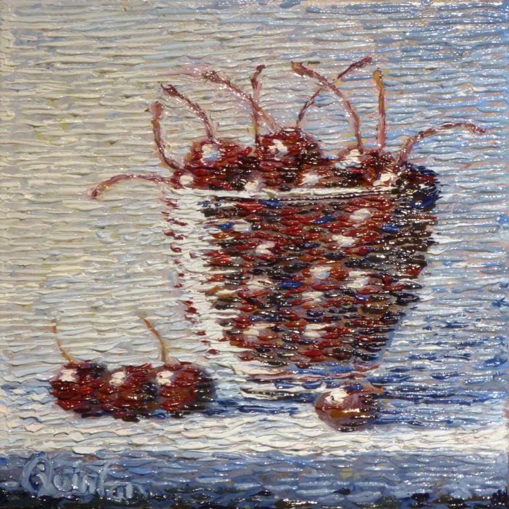 impressionist still life cherries by Chris Quinlan Art
