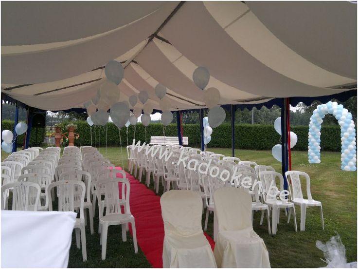 Huwelijksceremonie, huwelijksballonnen, ballonnen huwelijk, huwelijksdecoratie, huwelijksversiering, versiering huwelijk, heliumballonnen, helium, ballonnen, ballondecoratie, decoratie huwelijk