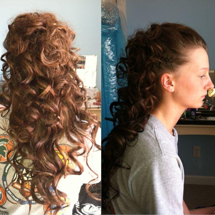Prom Hair Curls Braid Cute Hairstyle Updo