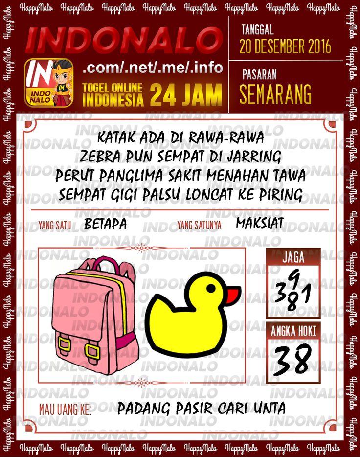 Undian Lotre 4D Togel Wap Online Live Draw 4D Indonalo Semarang 20 Desember 2016