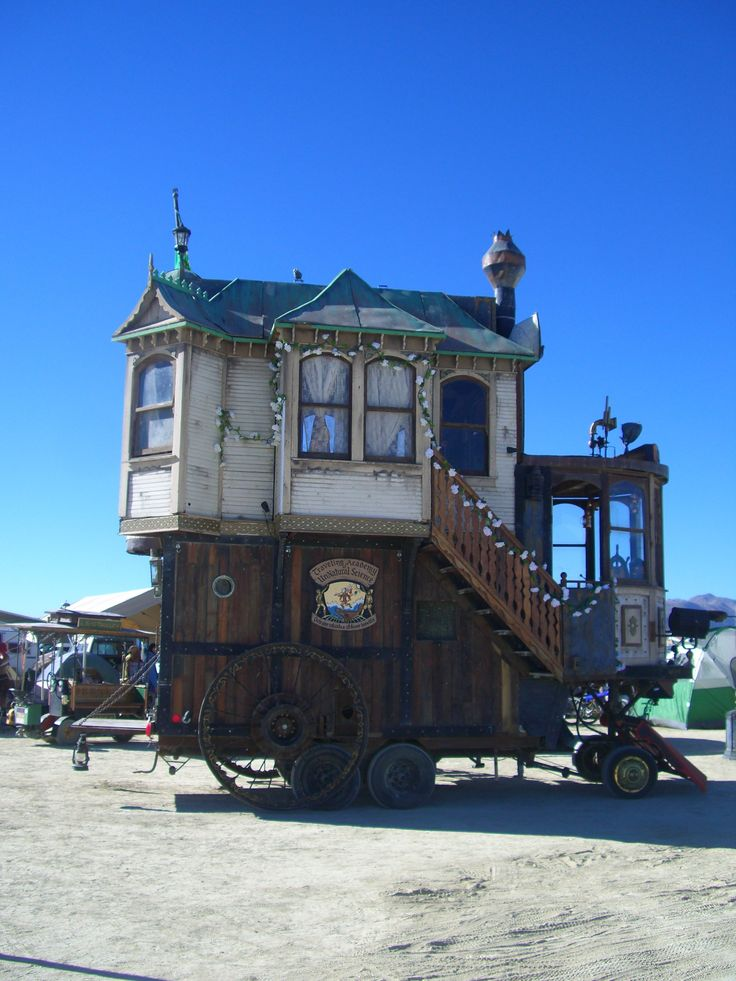 The Neverwas Haul, a steampunk Victorian mobile home from last year's Burning Man, Black Rock City