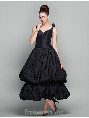 2018 的 Australia Cocktail Party Dresses Holiday Prom Dress Black