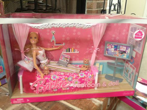 Barbie My House Bedroom Doll with Dog and Teddy Bear Laptop 2007 NIP Sweet | eBay