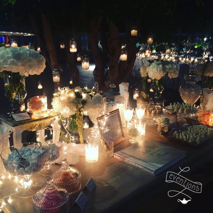Welcome desserts table for a luxury wedding in Rhodes; collaboration with the 12events