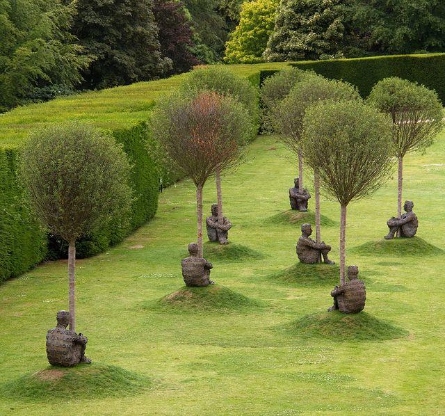 Jaume Plensa - Heart of Trees 5, exhibition at the Yorkshire Sculpture Park  ♥ Inspirations, Idées & Suggestions, JesuisauJardin.fr, Atelier de paysage Paris, Stéphane Vimond Créateur de jardins ♥