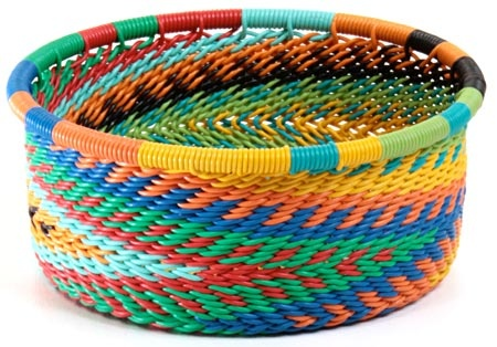 Brightly colored basket