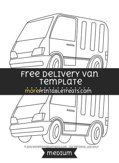 free delivery van template medium shapes and templates