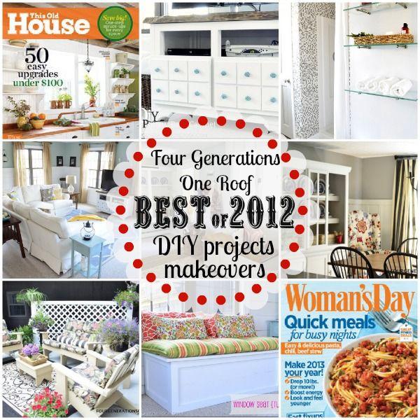 Best of 2012 DIY home renovations, project tutorials and room makeovers via Jessica @ fourgenerationsoneroof.com