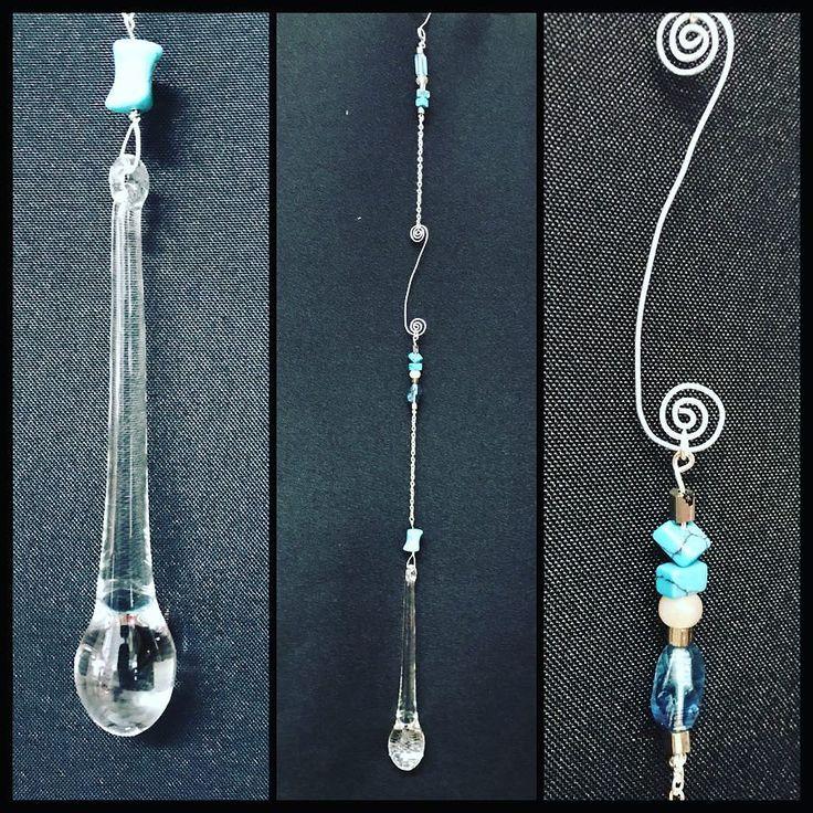 Blue Drop Suncatcher now available!! #torileydesigns #handmade #unique #beads #suncatcher #blue #swirl #glass #wire http://ift.tt/2rLdB4E
