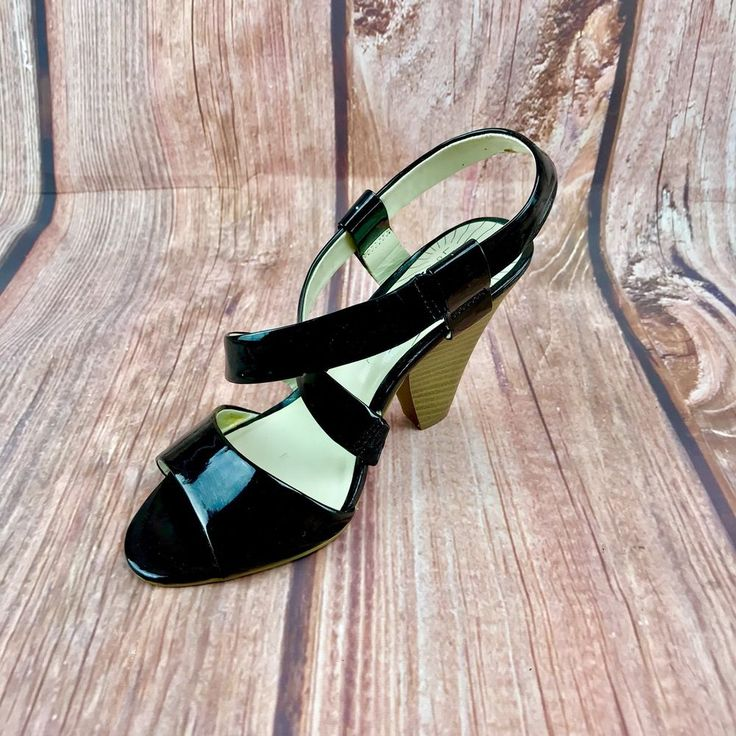 Limited Collection M&S Womans Shoes black strappy sandal chunky block slim wedge