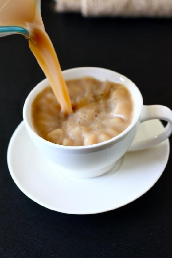 homemade chai lattes