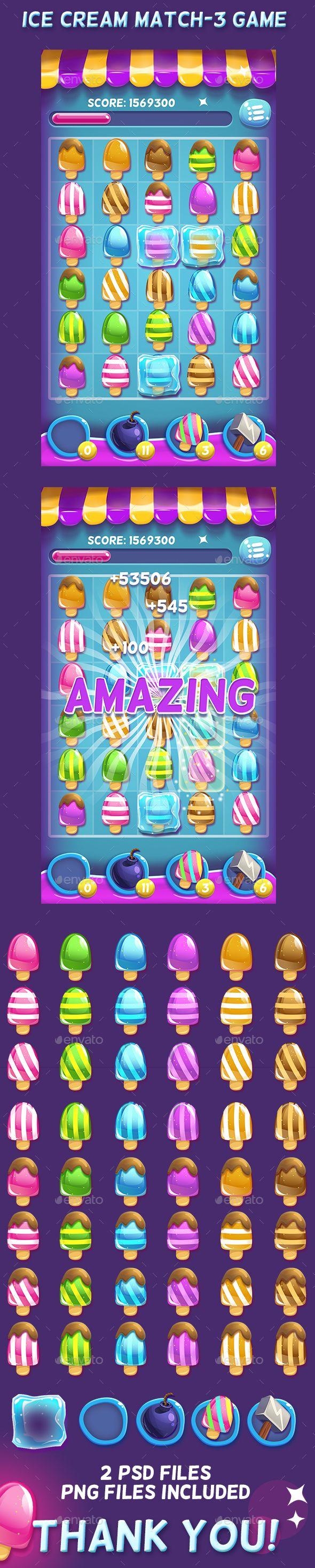 Ice Cream Match-3 Game Set (Miscellaneous)