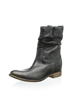 50% OFF Manas Women's Bella Hidden Wedge Bootie (Black/Platinum Toe)