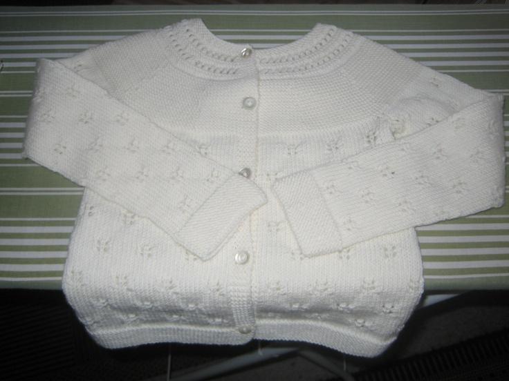 Cardigan in baby wool