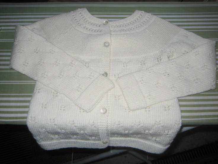 Cardigan in baby wool