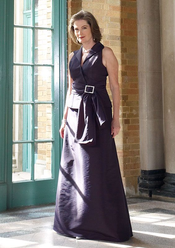 Engaging Sleeveless Purple Floor Length Elegant Mature Mother Of Bride Dresses In Canada Mother of Bride Dress Prices
