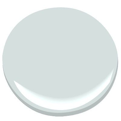 Benjamin Moore Glass Slipper-a grayish blue, almost anything looks great with this blue