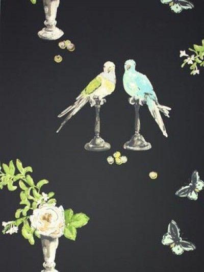 PERROQUET WALLPAPER - Perroquet Wallpaper Autumn 2007 - Wallpaper Nina Campbell