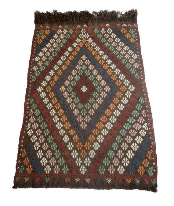 5'6''x8'1'' Small Kilim Rug  Handmade