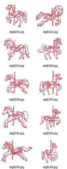 carousel horse tattoo                                                                                                                                                      More