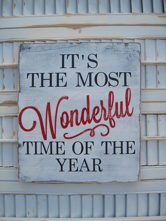 Most Wonderful Time Of The Year canvas sign for 2014 Christmas - Handmade decors, 2014 Christmas decorations #2014 #Christmas