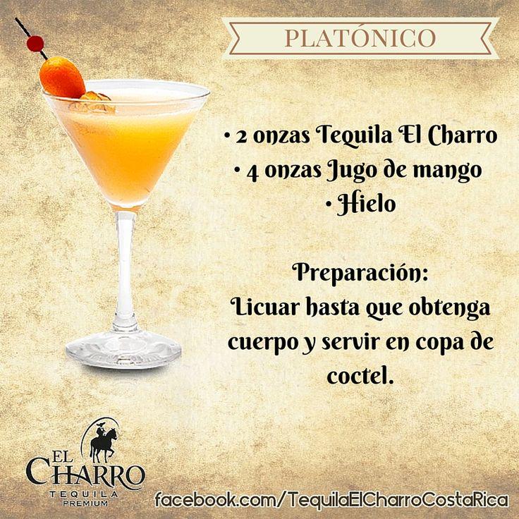 Platónico, con Tequila El Charro! #Tequila #TequilaElCharro #Coctel #Cocktail #Platonico