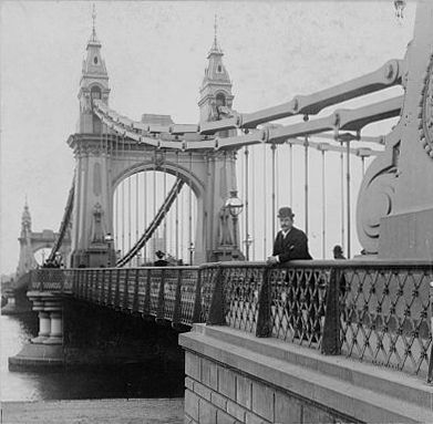 1896 - Hammersmith Bridge, London, England