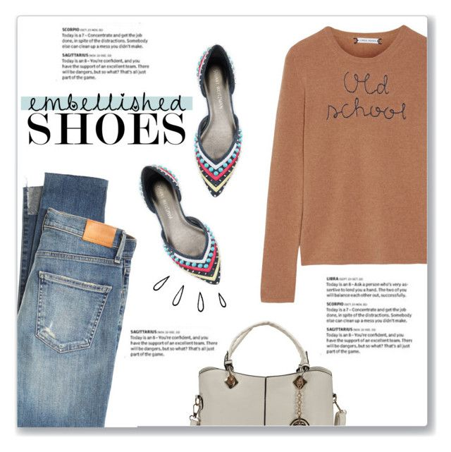 """""""Magic Slippers: Embellished Shoes"""" by kellylynne68 ❤ liked on Polyvore featuring Citizens of Humanity, Stuart Weitzman, Lingua Franca, Old Navy and embellishedshoes"""