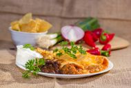 Cheese Enchiladas with a Spicy Sauce