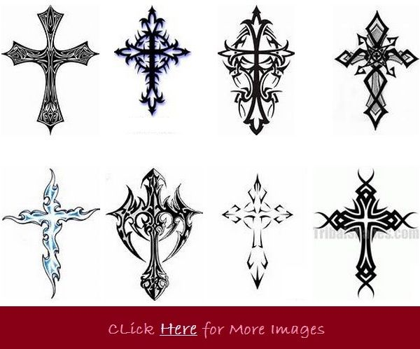 Tribal cross tattoo designs for women eight designs ideas