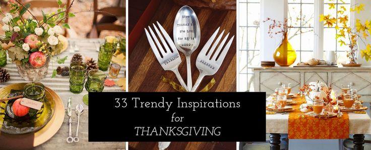 33 Thanksgiving Decorating Ideas & Inspirations!